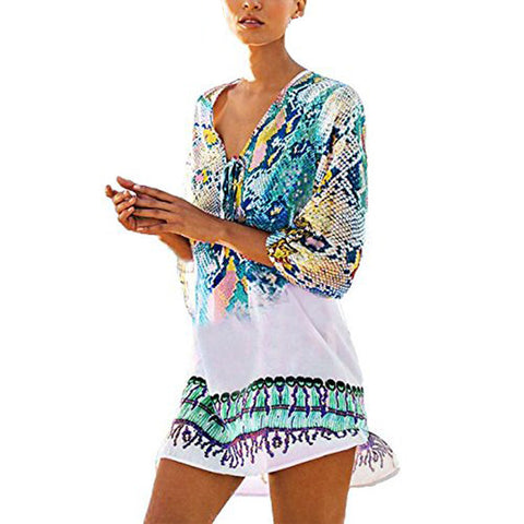 Womens Cover Up Bohemia Swimsuit Beachwear Bikini Dress
