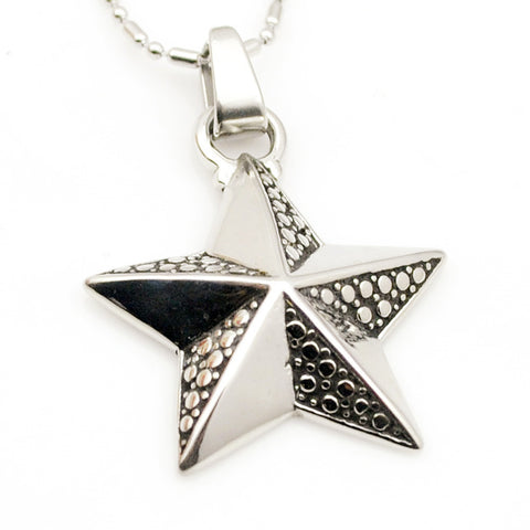 metal stainless sandy beach sea star pendant necklace
