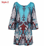 Summer Dress 2016 Women Sexy hippie boho Dress floral Print off shoulder