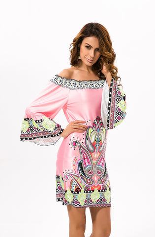 Beach Dress Plus Size Off Shoulder Bohemian