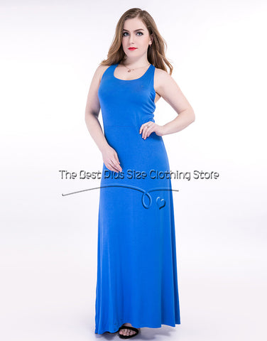 Womens sexy plus size dress long maxi tank dress