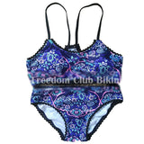 Sexy plavky gypsy floral swim bathing suit beach wear
