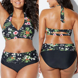 High Waist Two Piece Swimwear Plus Size
