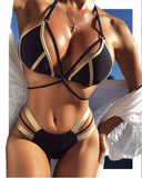 New Sexy Bandage Bikinis Set Push Up Bathing Suit