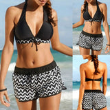 Two Piece Bikini Sets With Surfing Shorts