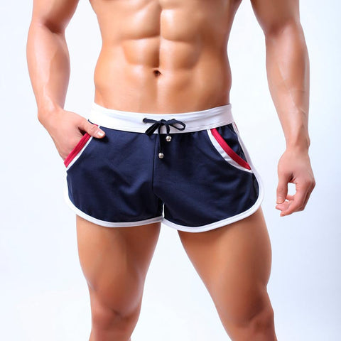 Men`s Quick Dry Comfy Drawstring Breathable Short With Side Pouch