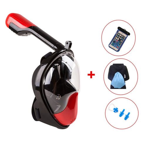 Full Face Snorkeling Mask 180 Degree Wide View snorkeling