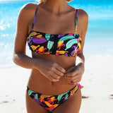 Banana Zipped Tie Dye Colorful Fruit Swimwear