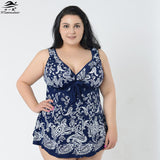 Super Plus size Skirt swimsuit one piece swimwear
