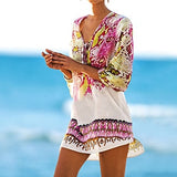 Beach tunic Beach Cover up Print Snake