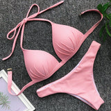 Halter Bra Cup Bikini Sexy Push up