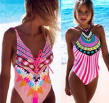 One piece Floral Push-Up Padded Swimwear