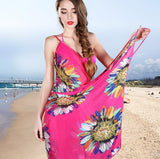 Chiffon Wrap Floral Print Pareo Boho Dress Sarong