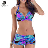 Floral Print Bikini Set Retro Bathing Suit