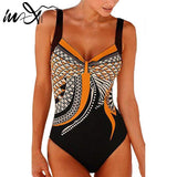 Plus size Highcut bodysuit one-piece