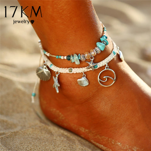 Bohemian Starfish Stone Anklets