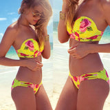 Tube top Brazilian Bikini Push Up Swimwear