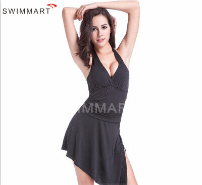 Halter Skirt One-Piece Swimsuit