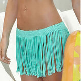 Beach Skirt Sexy Tassel Cover Ups Crochet Bathing Suit Cover Ups