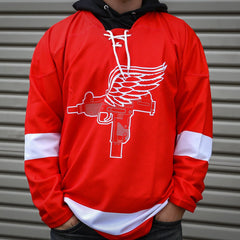 Detroit Uzis Hockey Jersey - Red