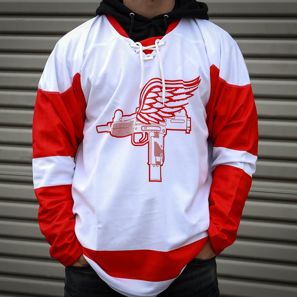 Detroit Uzis Hockey Jersey - White