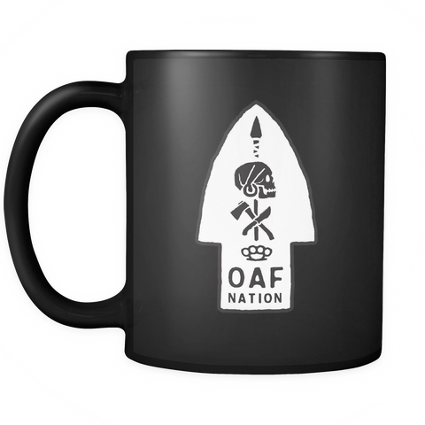 OAF Arrow - Black White Opaque