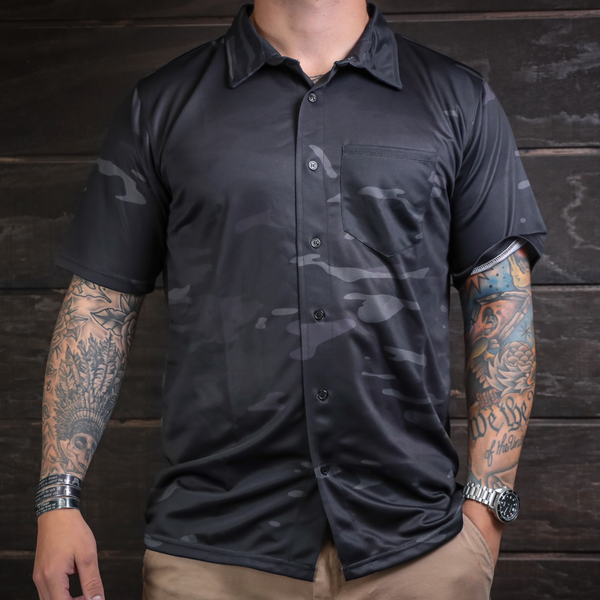 MC Black Button Up