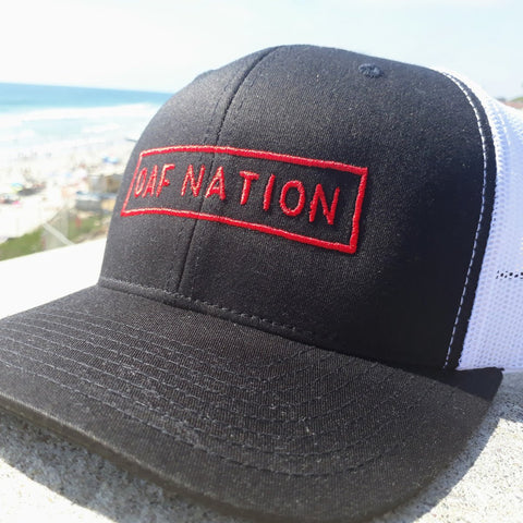 OAF Nation Curved Bill Snapback - Black / White