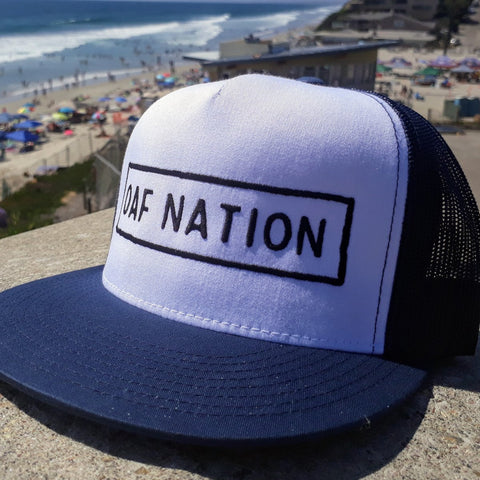 OAF Nation Flatbill Snapback - Navy / White