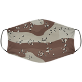 Chocolate Chip Camo Face Cover