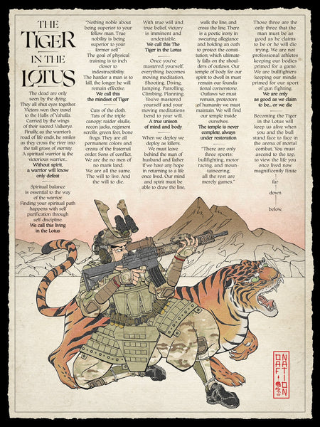 The Tiger in the Lotus Multicam - Poster