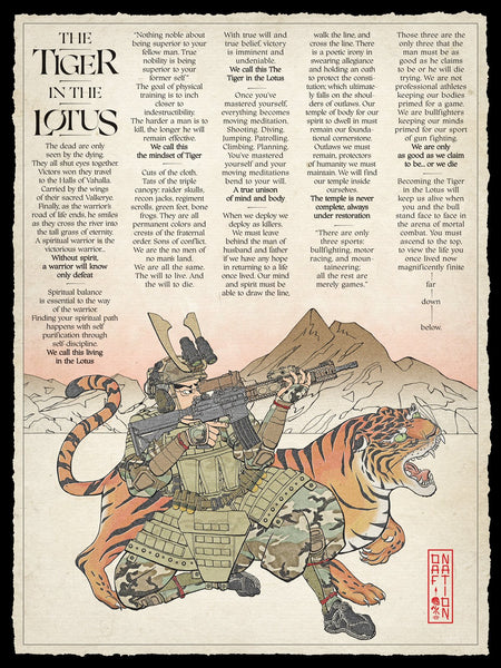 The Tiger in the Lotus Woodland - Poster