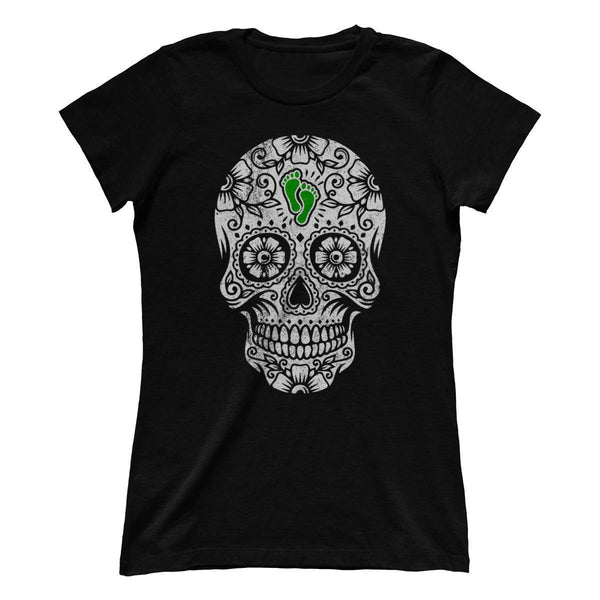 PJ Foundation Sugar Skull - Green (Ladies)