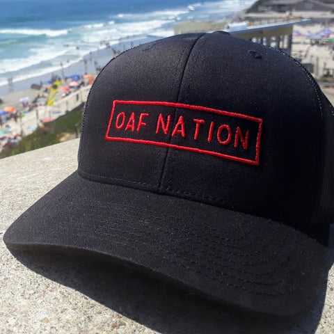 OAF Nation Curved Bill Snapback - Black