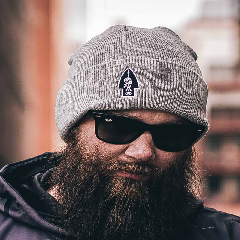 Bad Larry Cuffed Beanie (Grey)