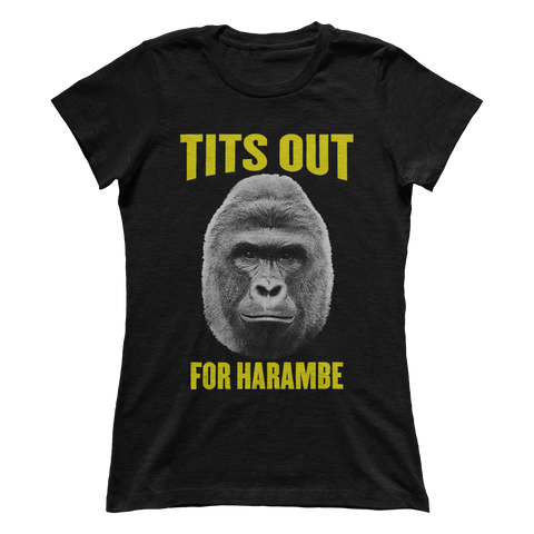 TITS OUT FOR HARAMBE