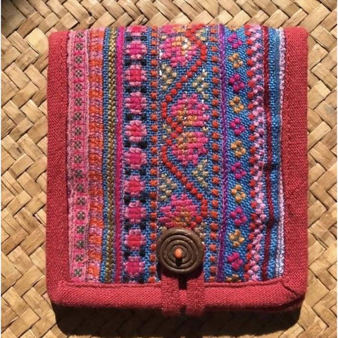 Hmong Hill Tribe Cotton Wallet | Up-cycled Hmong Vintage Fabric