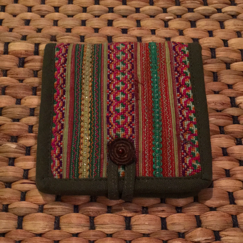 Hill Tribe Cotton Wallet | Hmong Vintage Fabric