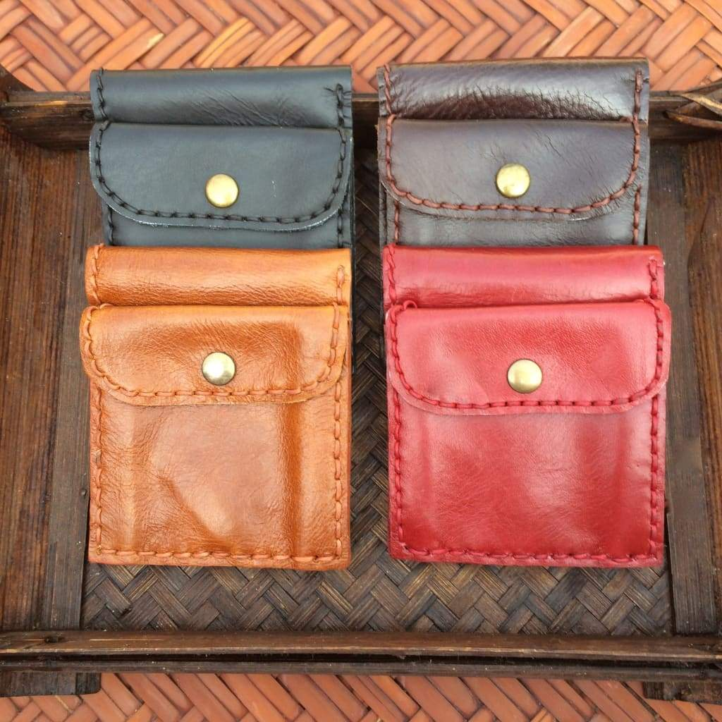 Leather Mini Wallet-Thai Artist Collective