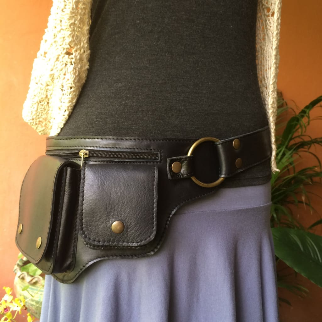 Leather Belt Bag | Fanny Pack | Hip Purse | Passport Iphone Utility Belt - Hipster - Leather Utility Belt