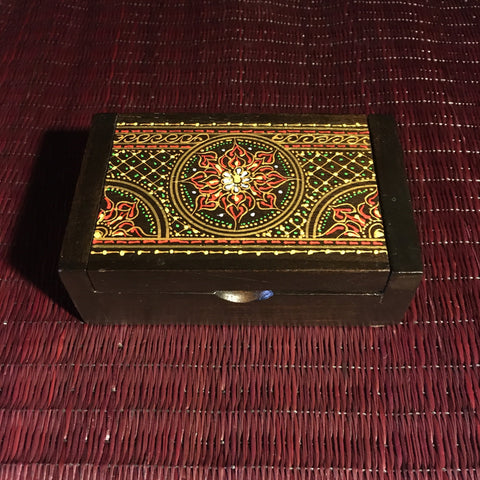 Mandala Jewelry Keepsake Box - Teak Wood