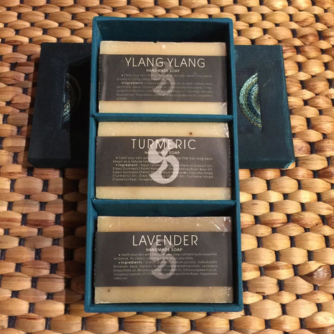 Thai Herbal Soap Gift Box | Ylang Ylang, Turmeric, Lavender
