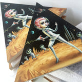 "AP Editions! ""CATURN ATTACK!"" by Mab Graves (Martian Toys exclusive PrintsOnWood.com edition)"