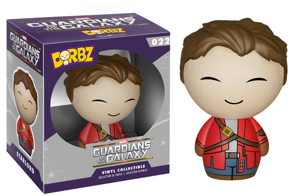 Unmasked Star Lord Guardians of the Galaxy Funko Dorbz
