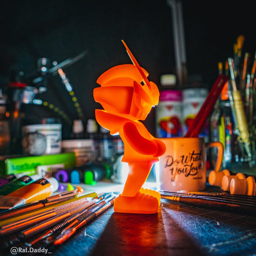 TEQ63 DIY Agent Orange GID Blank  by  QUICCS x Martian Toys