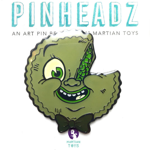 Pinheadz  - Atomic Green Pie Enamel Pins by Nouar