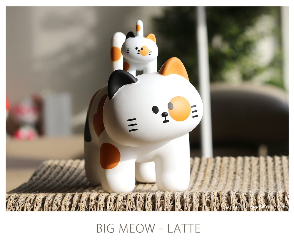 MY HOME CAT BIG MEOW SERIES – LATTE x FluffyHouse