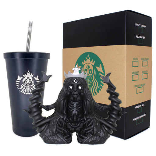"SLAVE to the SIREN: Black Sea 6"" Vinyl Art & Venti Tumbler by Martian Toys"