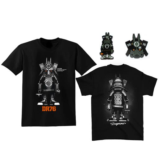 DR76 Ouroboros Shirt & 2Pin Combo  by  Dragon76  x  Martian Toys