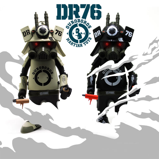 "DR76 Ouroboros BLACK & WHITE 6"" Vinyl Figure  by  Dragon76  x  Martian Toys"